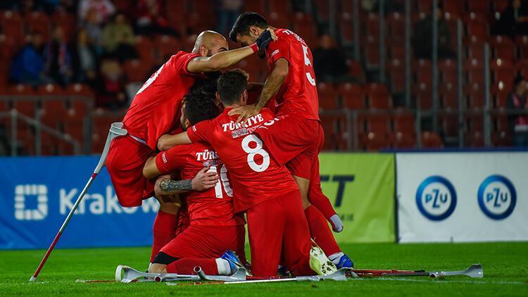 Son Dakika Haberi... Ampute Futbol Milli Takımı Avrupa şampiyonu oldu İspanya karşısında 6 gol...