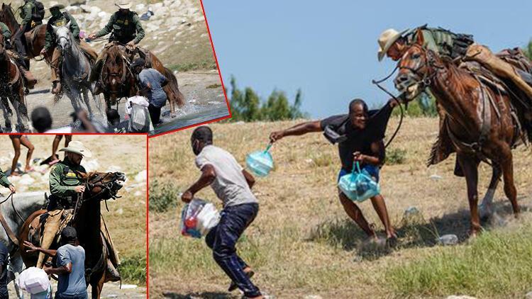 Dünya bu fotoğrafları konuşuyor... Beyaz Saray özür diledi: ABD sınır polisi göçmenleri kırbaçladı