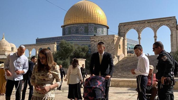 102 fanatik Yahudiden Mescid-i Aksaya baskın