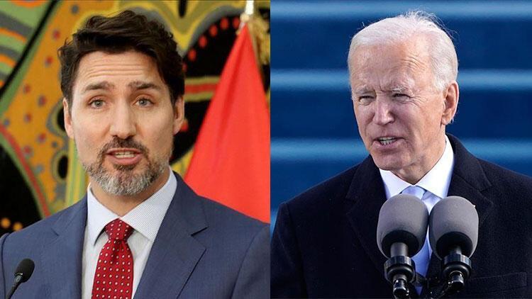 ABD Başkanı Biden ve Kanada Başbakanı Trudeau görüştü