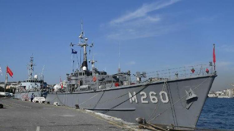 Türk, İspanyol ve İtalyan mayın avlama gemileri İstanbulda