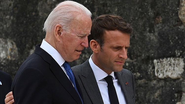 ABD Başkanı Biden ile Fransa Cumhurbaşkanı Macron arasında buzları eriten görüşme