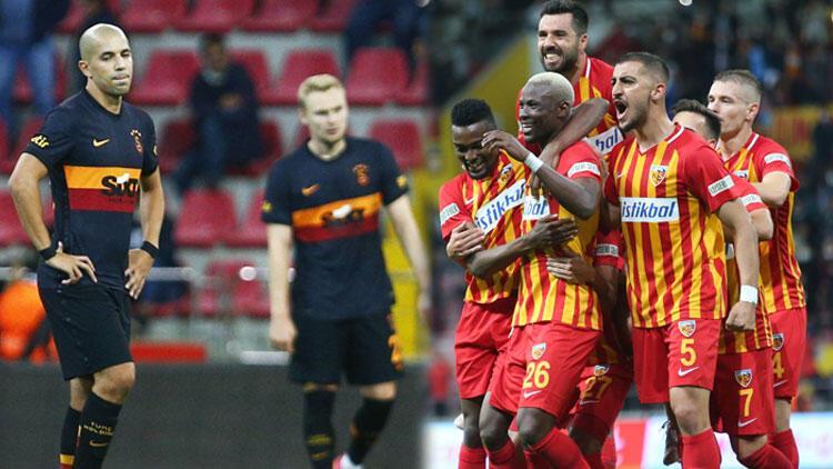 Kayserispor 3-0 Galatasaray (Maçın özeti ve golleri)