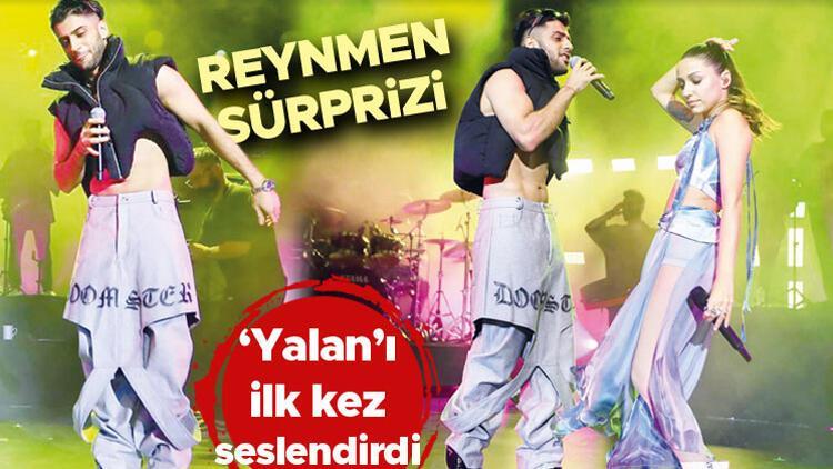 Zeynep Bastıkın Harbiye konserinde Reynmen sürprizi