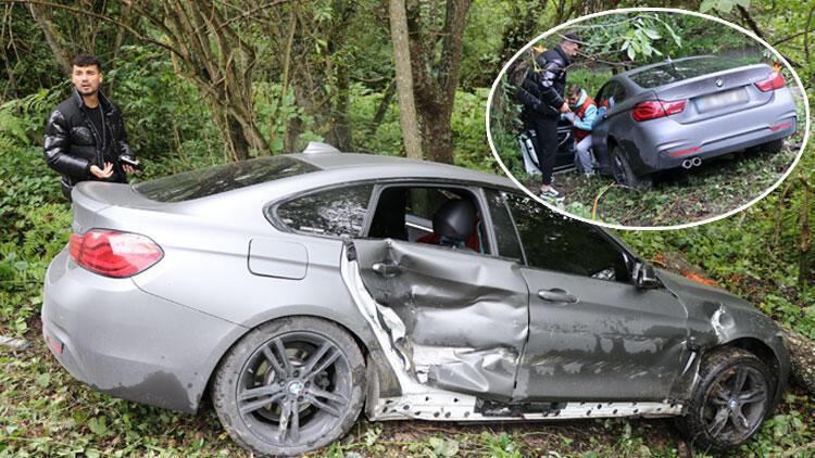 Bolusporlu futbolcular trafik kazası geçirdi Faciayı ağaç kütüğü önledi