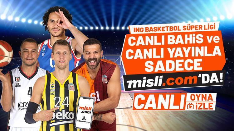 Basketbol Süper Ligi canlı yayınlarla SADECE Misli.comda Hem canlı izle, hem de canlı iddaa oyna...