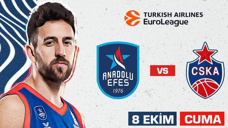 Anadolu Efesin Euroleaguede konuğu CSKA Moskova