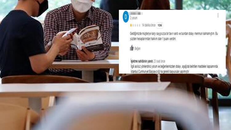 Sosyal medya bunu konuşuyor Kafe-müşteri arasında yorum tartışması