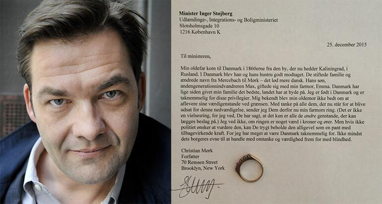 Danimarka hükümetine mücevherli protesto mektubu