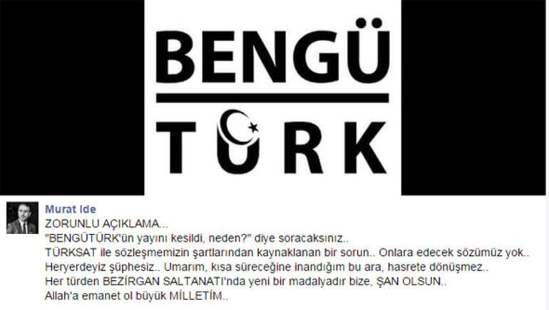 Bengü Türk TVnin yayını durduruldu