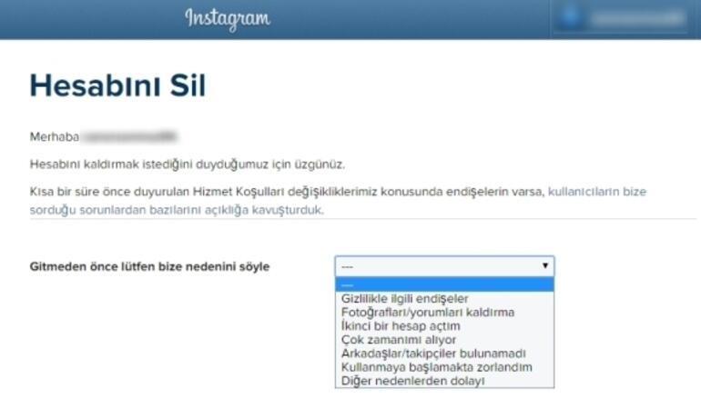 Instagram hesabı nasıl kapatılır İşte çözümü