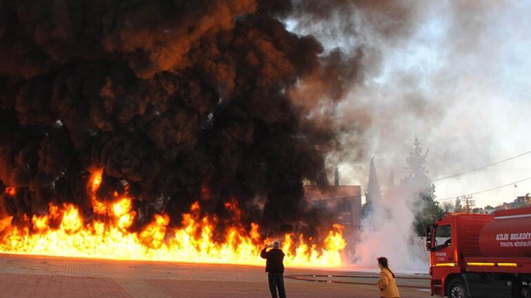 Kilis'te korkutan yangın - Son Dakika Haber
