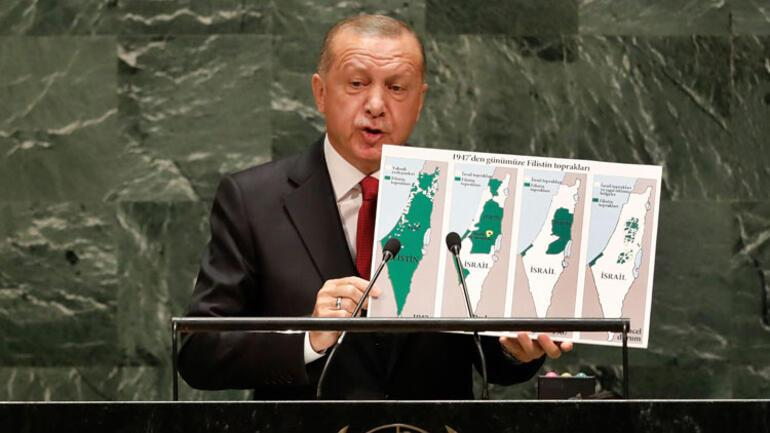 Cumhurbaşkanı Erdoğan BM kürsüsünde konuştu: İsrail devletinin sınırları neresidir