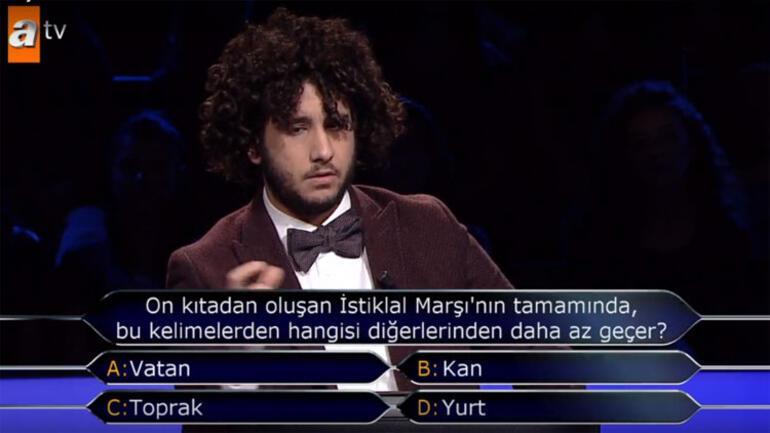 Kim Milyoner Olmak İsterde 1 milyon TLlik sorunun yanıtı belli oldu... İşte Arda Aytenin kazandığı para ödülü