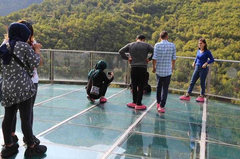 Buraya çıkmak cesaret istiyor Türkiyenin en yükseği... Binlerce kişi ziyaret etti