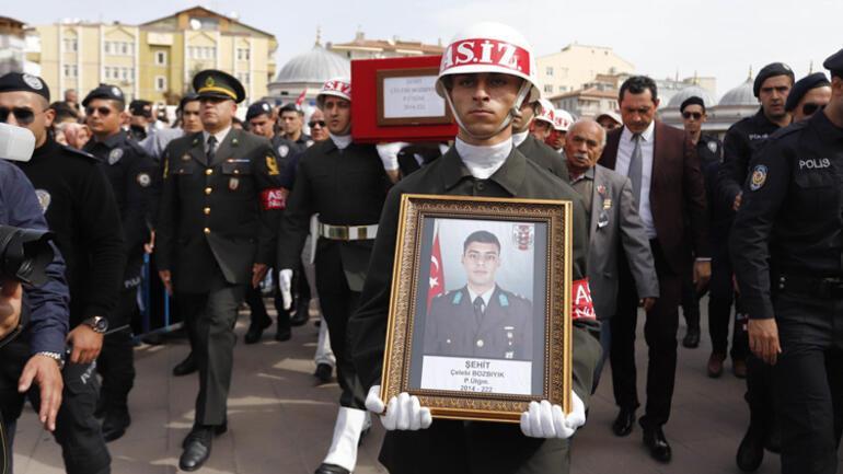 Şehit Üsteğmen Bozbıyık, Kırıkkalede toprağa verildi