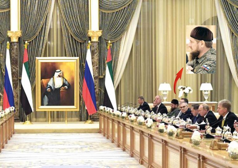 Dostumuz Putinin masasındaki bu üniformalı sakallı da kim
