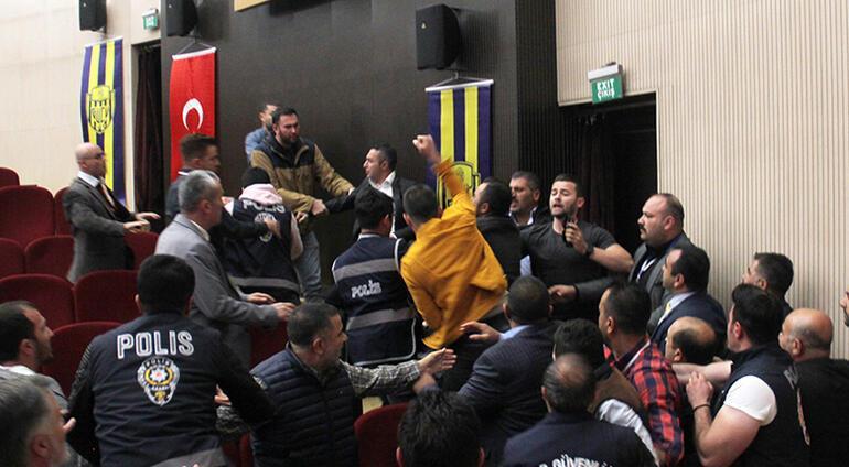 Son dakika: Ankaragücü genel kurulunda yumruklar havada uçuştu