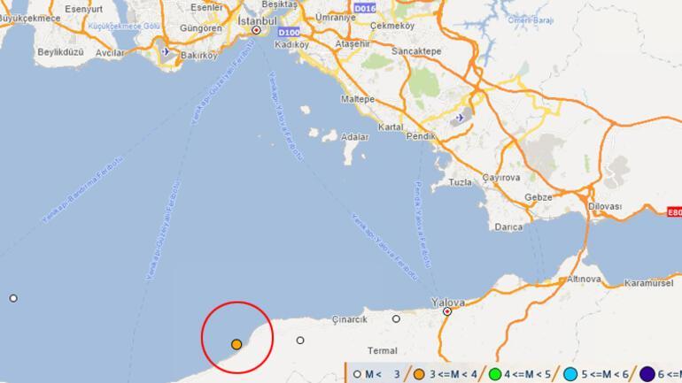 Son dakika: Yalova'da korkutan deprem İstanbul'da hissedildi….