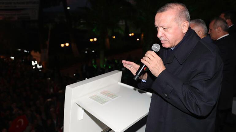 Cumhurbaşkanı Erdoğan İzmir'de konuştu, müjdeyi verdi