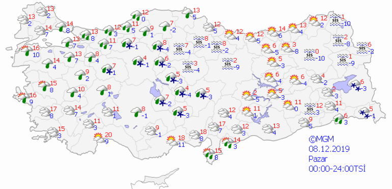 Hava hafta sonu nasıl olacak Kar yağacak mı 7 8 Aralık Türkiye geneli hava durumu raporu