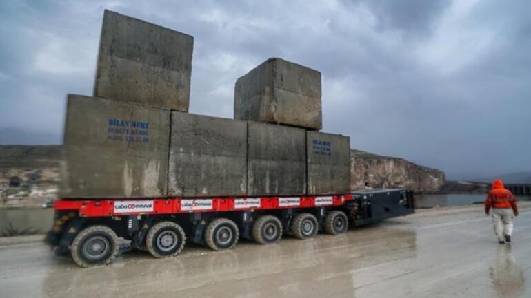 Hasankeyf'teki son eserin taşınmasına başlandı!