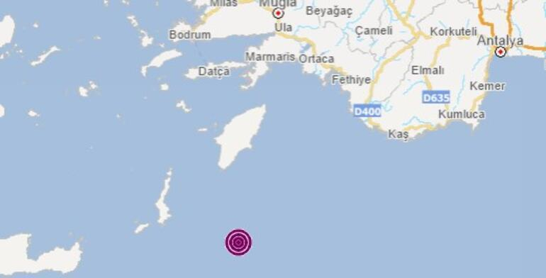 Son dakika haberi Akdenizde şiddetli deprem 5.4 ile salladı