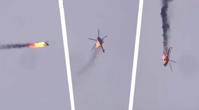 Son dakika haberler... İdlibde Esad rejiminin helikopteri vuruldu