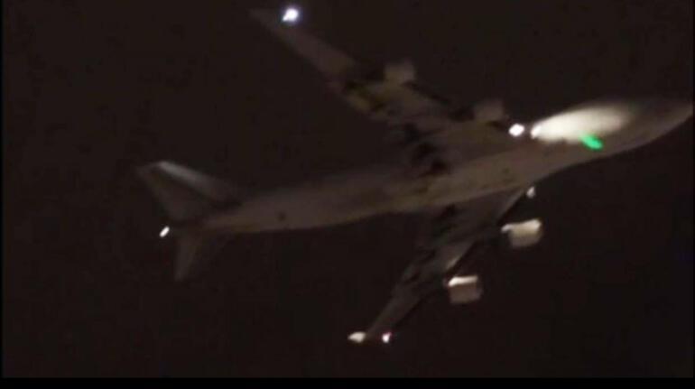 İstanbulda akılalmaz olay Dev uçağa lazer tuttular