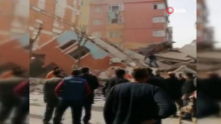 Son dakika haberler... İstanbul Bahçelievlerde bir bina çöktü