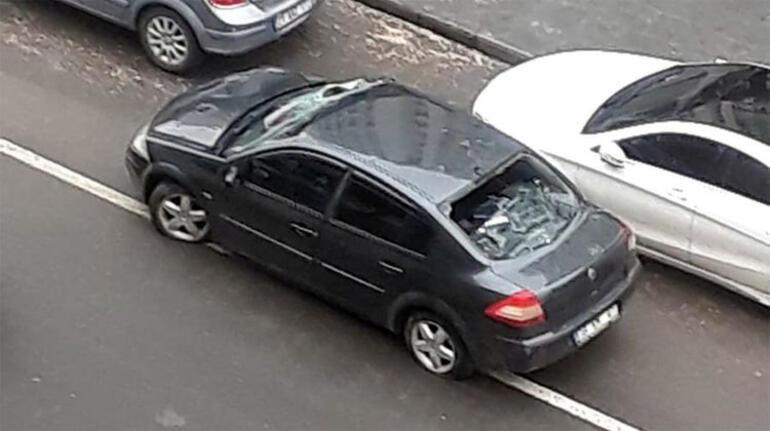 Diyarbakırda korkunç kaza Ön cama çarpıp takla atıp arka camdan içeri girdi
