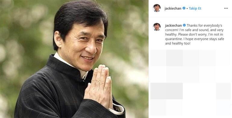 Jackie Chan: Lütfen endişe etmeyin