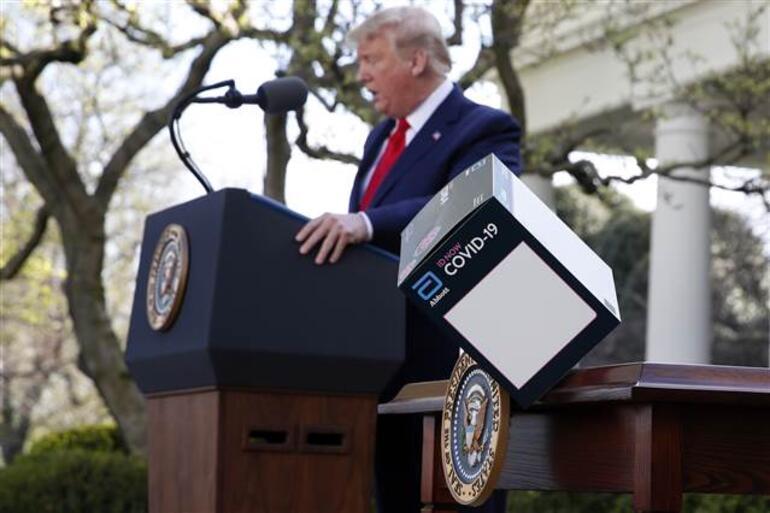 Son dakika haberi: ABD Başkanı Trump, koronavirüs toplantısında cihaz tanıttı: 120 bin maskeyi dezenfekte ediyor