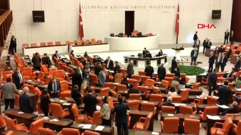 Son dakika haberler... Mecliste MHP ve HDPli vekiller arasında gerginlik çıktı