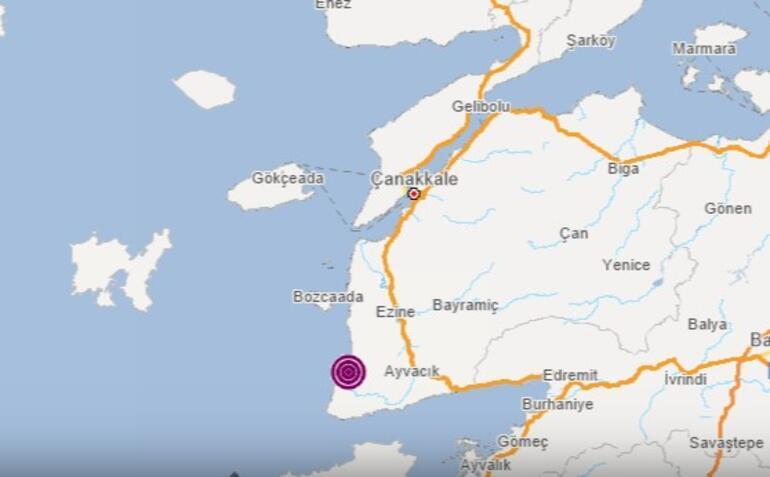 Son dakika haberi... Çanakkalede 3.6 büyüklüğünde deprem