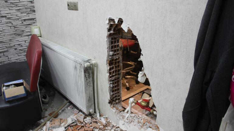 400 bin TLlik vurgun Duvarı delip girdiler...