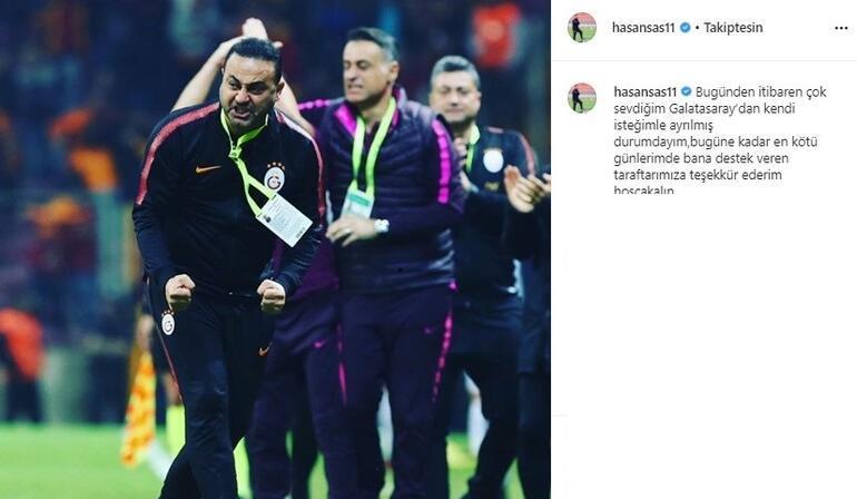 Son Dakika | Galatasarayda Hasan Şaş görevi bıraktığını açıkladı