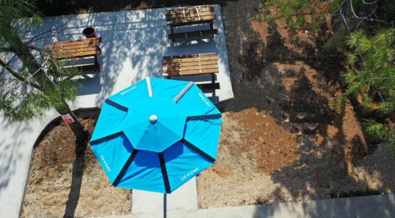 Son teknolojinin yeni meyvesi: Panelli güneş şemsiyesi