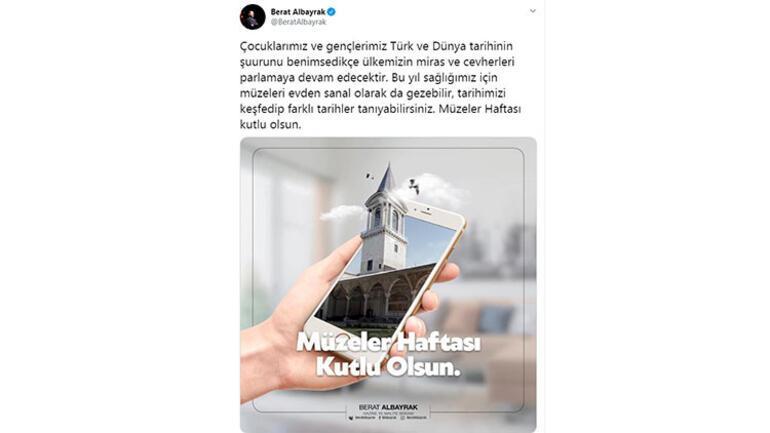 Bakan Albayraktan Müzeler Haftası paylaşımı