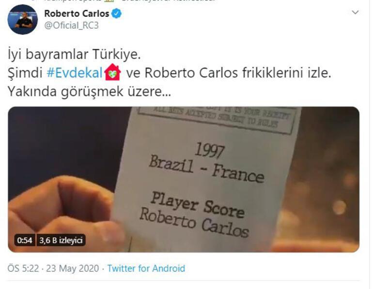 Son Dakika| Roberto Carlostan dikkat çeken Türkiye paylaşımı Fenerbahçe taraftarları...