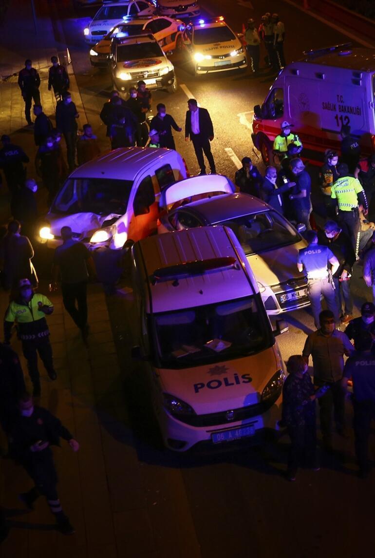 Başkentte polis uygulamasına araç daldı Çok sayıda yaralı var