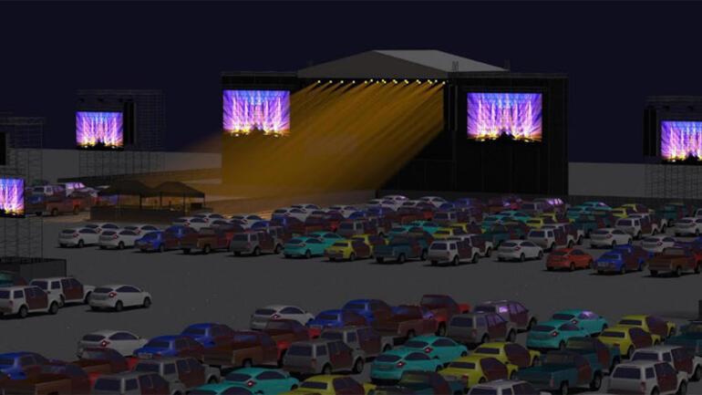 Yıldızlar altında arabalı konser