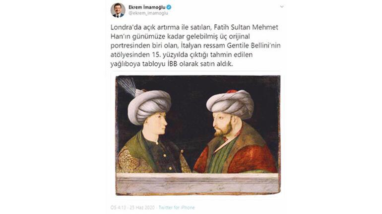 Fatih'in portresi İstanbul'a geliyor - Kitap Sanat Haberleri