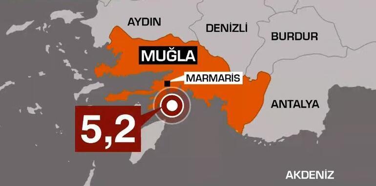 Son dakika haberi: Muğlada 5.2 büyüklüğünde deprem İzmir ve çevre illerde de hissedildi