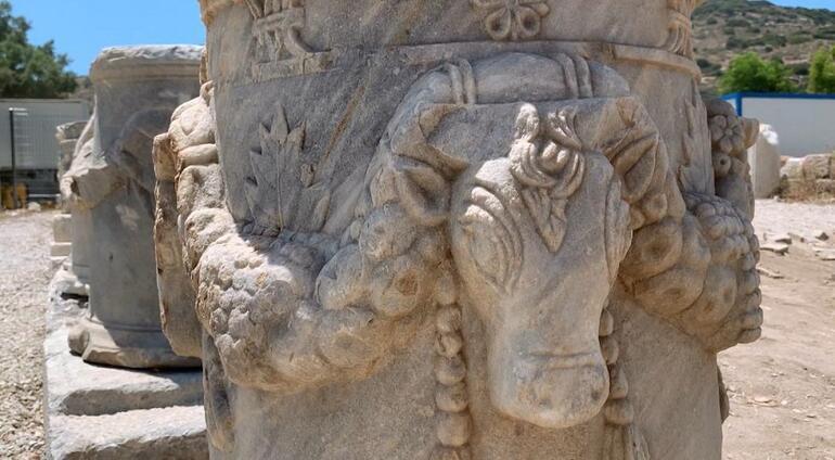 3 bin yıllık Knidos Antik Kentinde yapılar yeniden yükseliyor