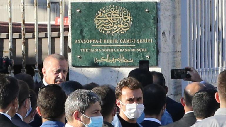 Son dakika... Cumhurbaşkanı Erdoğan tarihi güne saatler kala Ayasofyada...