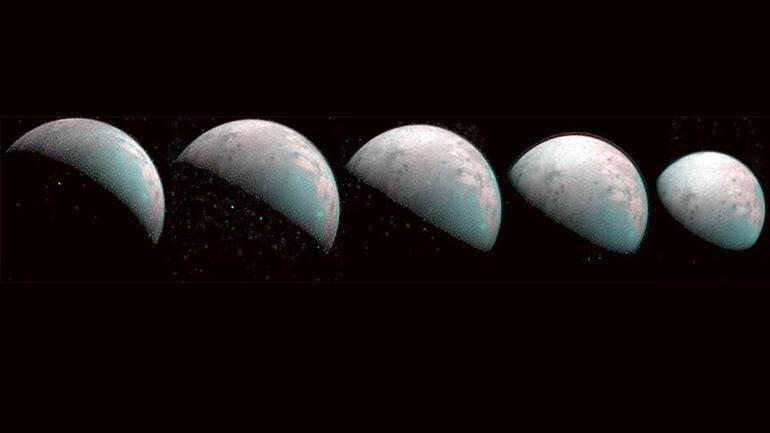 Jüpiterin uydusu Ganymedein kuzey kutbunun görüntüleri paylaşıldı