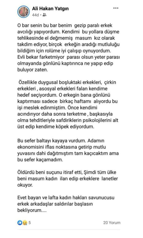 Pınar Gültekin hakkında çirkin paylaşıma soruşturma