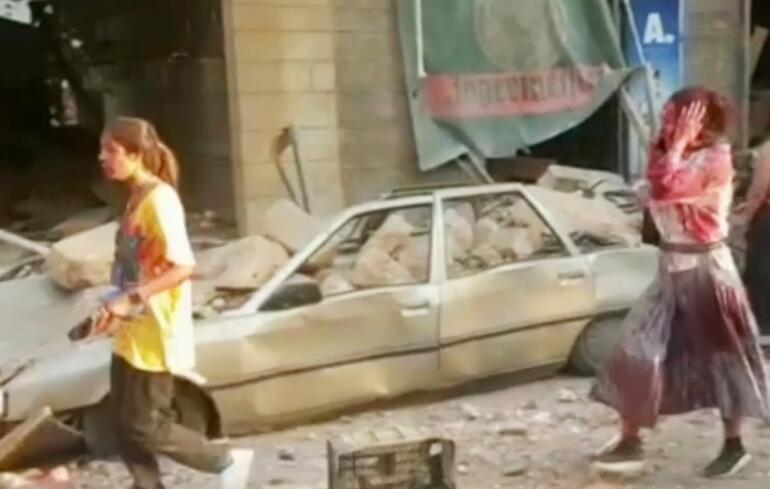 Son dakika haberi: Lübnanın başkenti Beyrutta büyük patlama 25 ölü, 2 bin 200 yaralı