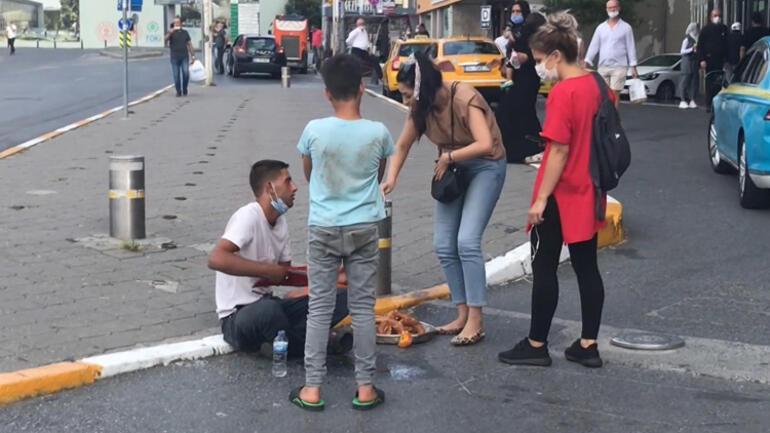 Unmoralisches Spiel auf dem Taksim-Platz, das vorgibt, ohnmächtig zu werden ...